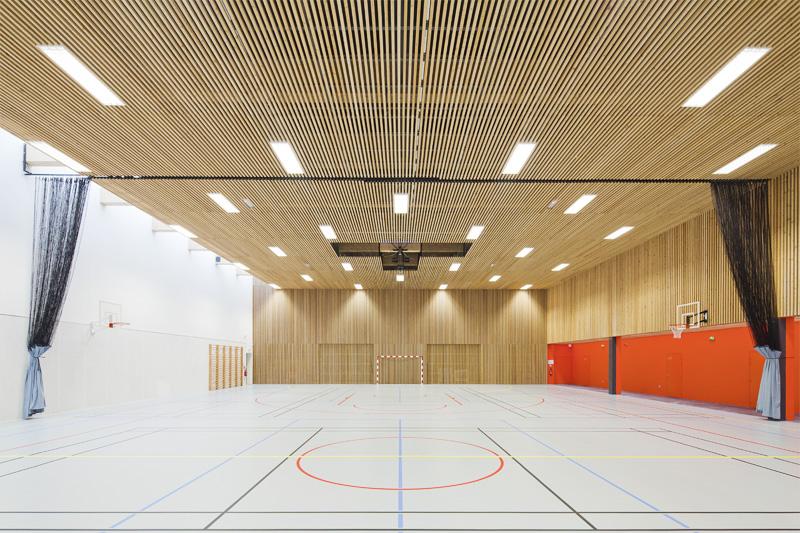 Perspective D Une Villa : Gymnase détails d architecture